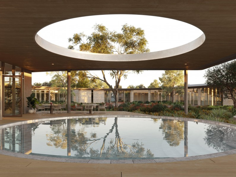 Meridian_Clubhouse_Exterior_Outdoor_Pool_Daylight