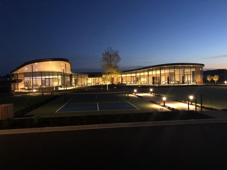 Mount Duneed Clubhouse Exterior Twilight Courts