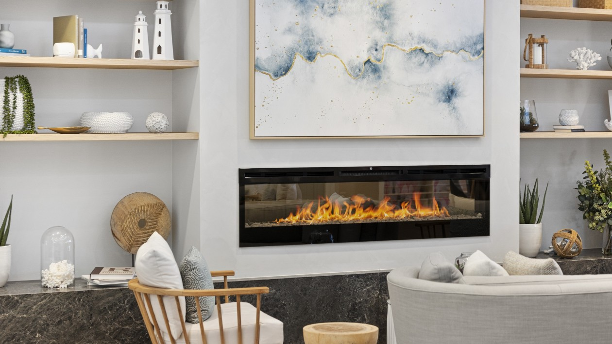 Ocean Grove Clubhouse Lounge Fire Place
