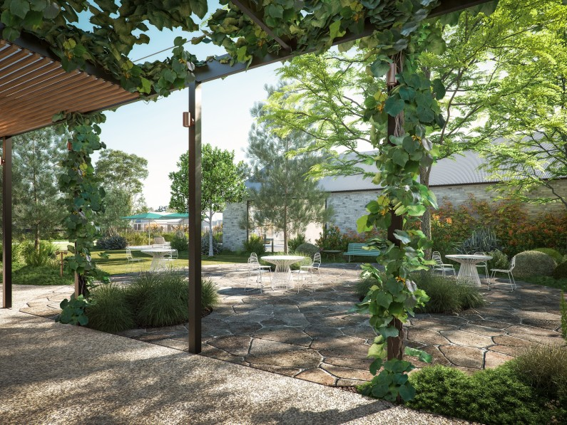 Lifestyle Communities St leonards Clubhouse Courtyard Render